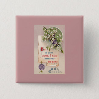 A Holy Easter Vintage Christian 2 Inch Square Button