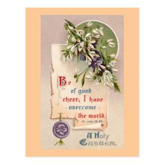A Holy Easter Vintage Christian Postcard