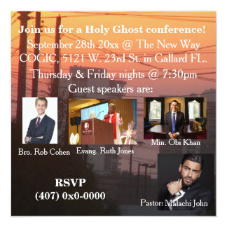 A Holy Ghost Conference Card