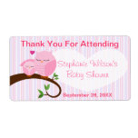 A Hoot Of A Baby Shower Pinks Favour Label