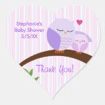 A Hoot Of A Baby Shower Purple Heart Sticker
