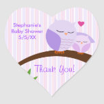 A Hoot Of A Baby Shower Purple Heart Stickers