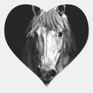 A Horse Called Elvis Heart Sticker