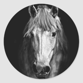A Horse Called Elvis Round Sticker