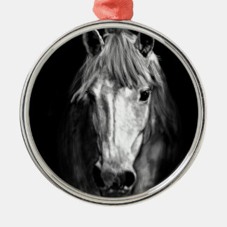 A Horse Called Elvis Silver-Colored Round Ornament