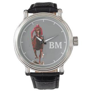 a horse & custom initials watch