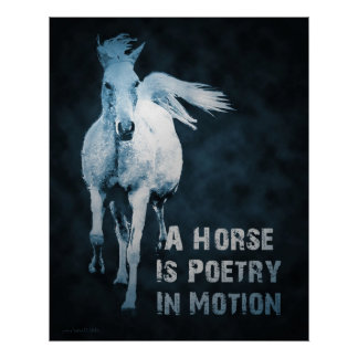 A Horse Is Poetry In Motion Poster