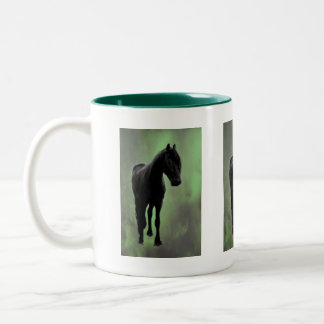 A horses tranquility Two-Tone coffee mug