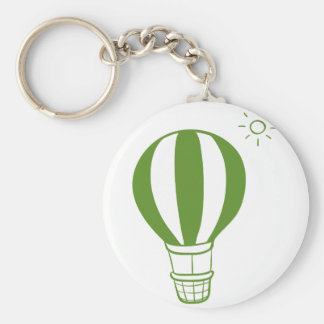 A hot air balloon and a sun keychain