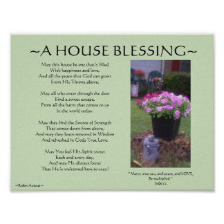 A HOUSE BLESSING POSTER