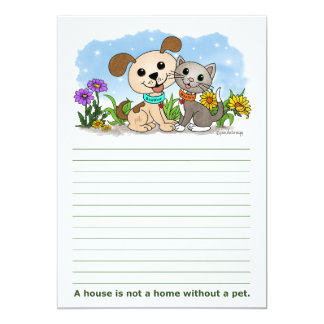 A house is not a home... (BowWow & MeeYow) Card