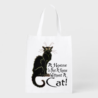 """A House IS Not A Home Without A Cat"" - Grocery Ba Grocery Bag"
