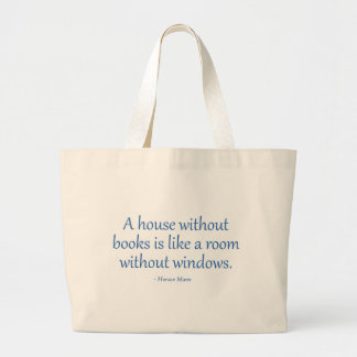 A House Without Books Large Tote Bag