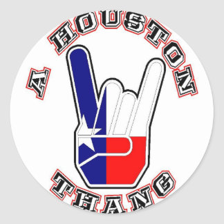 A Houston Thang Classic Round Sticker