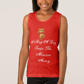 A HUG A DAY KEEPS THE MEANIES AWAY T SHIRT
