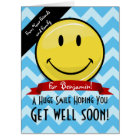 A Huge Smile Get Well Soon Custom Big Card