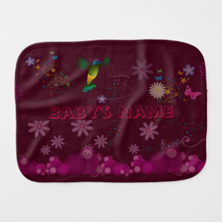 A Hummingbird Painter Burp Cloth