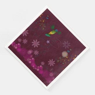 A Hummingbird Painter Disposable Napkins