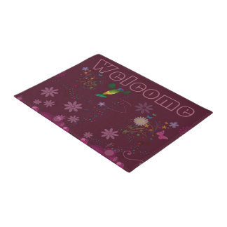A Hummingbird Painter Doormat