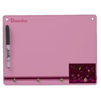 A Hummingbird Painter Dry Erase Board With Keychain Holder