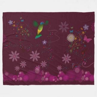 A Hummingbird Painter Fleece Blanket