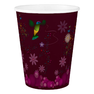 A Hummingbird Painter Paper Cup