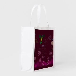 A Hummingbird Painter Reusable Grocery Bag