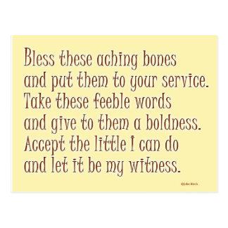 A humorous prayer postcard