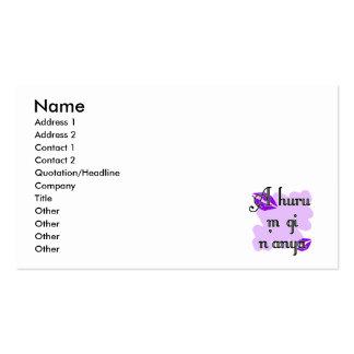 A huru m gi n'anya - Igbo I love you Purple Kisses Business Card