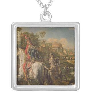 A Hussar on horseback, 1773 Silver Plated Necklace
