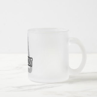 A is for Aaron Frosted Glass Mug
