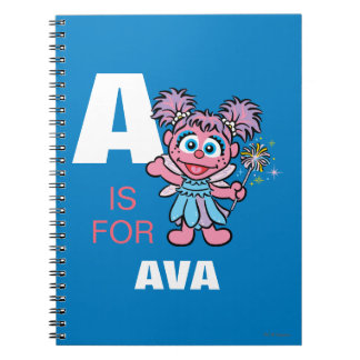 A is for Abby Cadabby | Add Your Name Spiral Notebooks