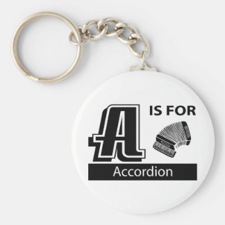 A Is For Accordion Keychain