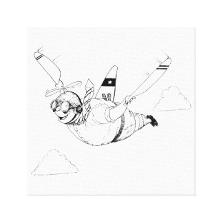 A is for Aeroplane Canvas Print