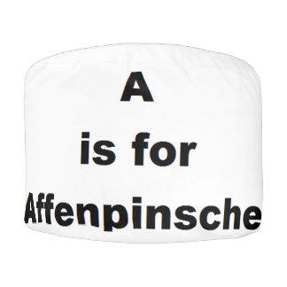 a is for affenpinscher pouf