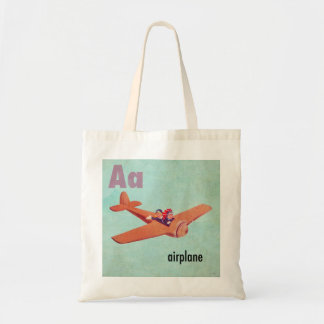 A is for Airplane Tote Bag