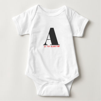A is for algorithm baby bodysuit
