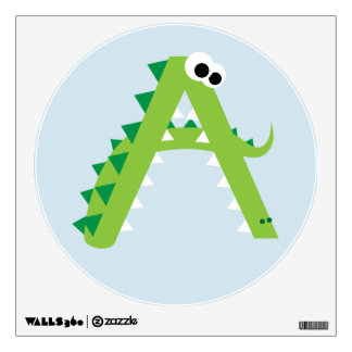 A Is For Alligator Cute Wall Decal