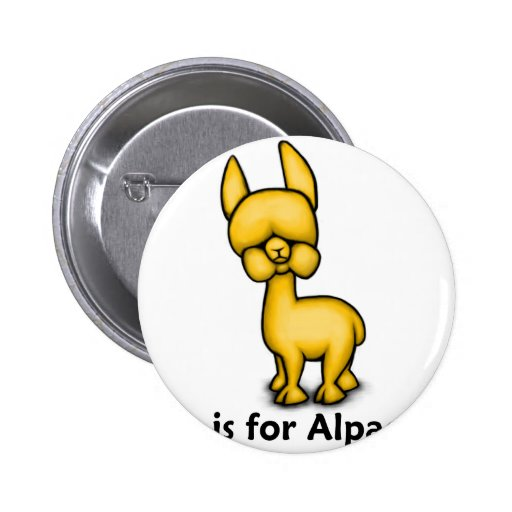 A is for Alpaca Buttons