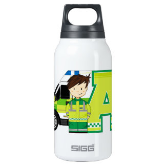 A is for Ambulance Insulated Water Bottle