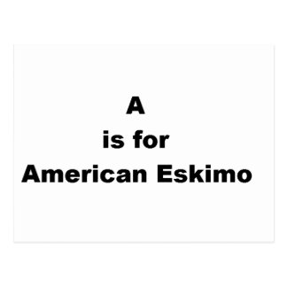 a is for american eskimo postcard