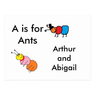 A is for Ants Postcard