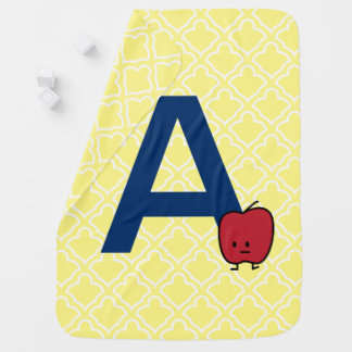 A is for Apple alphabet abc letter learning Baby Blanket