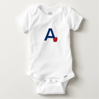 A is for Apple alphabet abc letter learning cute Baby Onesie