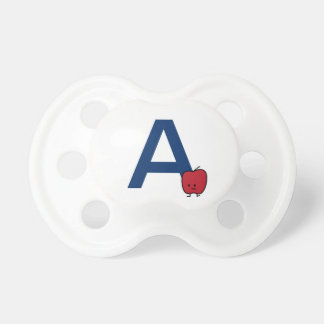 A is for Apple alphabet abc letter learning Pacifier