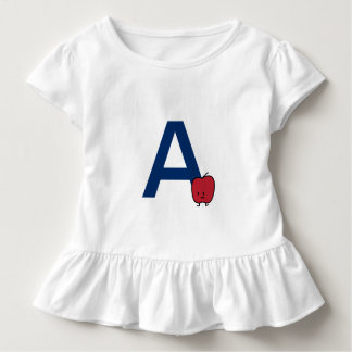 A is for Apple alphabet abc letter learning Toddler T-shirt