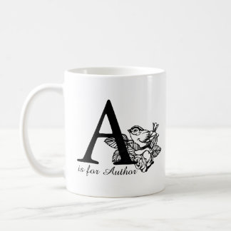 A is for Author Coffee Mug