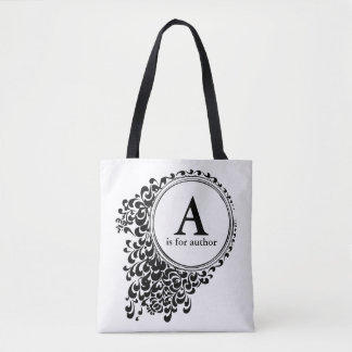 A is for Author (Customizable) Tote Bag