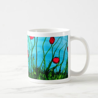 A is for Azure alphabet art mug