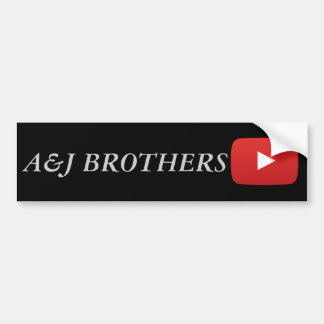 a&j brothers youtube bumper sticker